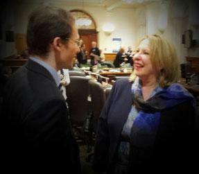 Avec Madame Christine St-Pierre, ministre des relations internationales et de la francophonie du Québec