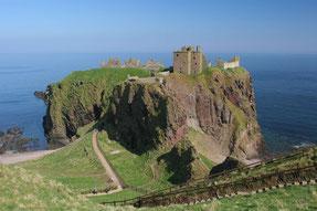 Dunnottar Castle auf den Klippen