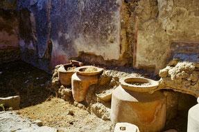 in den Ausgrabungen von Pompei