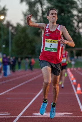 Andreas beim Zieleinlauf - und seinem 6. Staatsmeistertitel in diesem Jahr