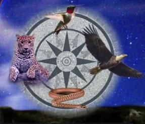 Die Spirits des Munai-Ki   Jaguar, Kolibri, Adler & Schlange