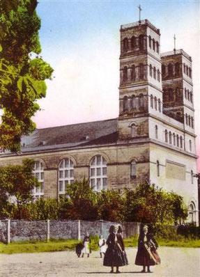 Die Schinkelkirche um 1910.