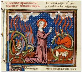 BnF, ms Frçs 183, f°100v, La Légende dorée, XIVe s.