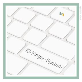 Das 10-Finger-System: Tastaturtippen bzw. Schreibmaschineschreiben