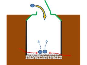 2台目への生ごみの投入を開始。1台目のときと同じように、微生物が集まり、働き始めます。