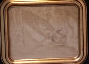 &ギャラリー展示・赤木範陸  1999年  エンコステック  22.7×35.0cm「ガラスの林檎Ⅱ」