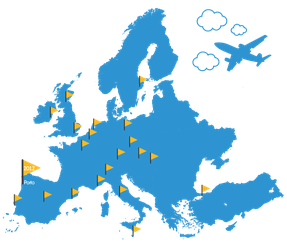 European Best Destinations Map