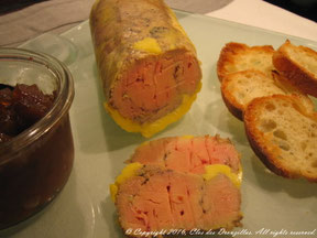 Foie gras de canard à la Cartagène cuit à la vapeur