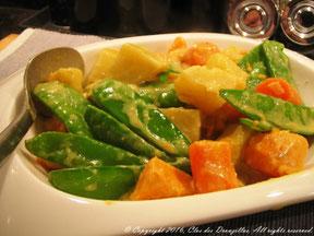 Colombo de légumes croquants