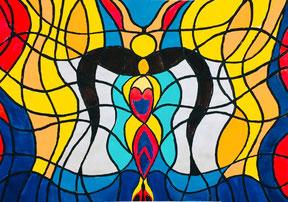 Wer malt denn hier, Intuitives Malen, Atelier Kolibri Zug