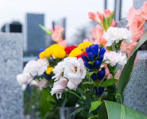 お墓に供えたお花