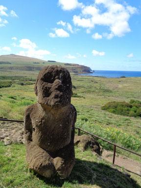 Sitzender Moai Osterinsel