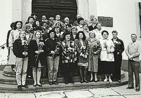 29.04.1990: Blumen zum 5.Chorgeburtstag