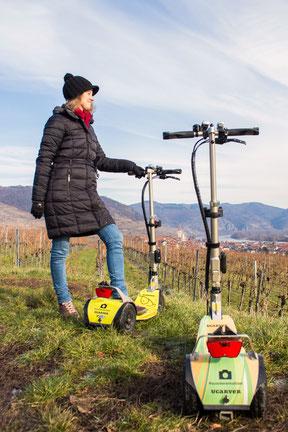 Aussichtsplätze und Freizeit in der Wachau Verleih von Scooter und Roller. Outdooraktivität in der Wachau und Niederösterreich.