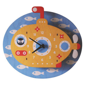 gift, home, decor, baby, boutique, store, shop, kids, beach, house, shower, present, clock, room, periscope, yellow submarine, the beatles, sea life, fish