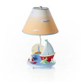 kids, lamps, boys, girls, nursery, bedroom, sailboat