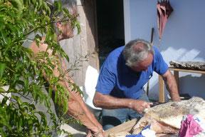 Porca Preta Pontalinho,Presunto,Schinken vom schwarzen Schwein,Serra de Monchique,Algarve,Portugal