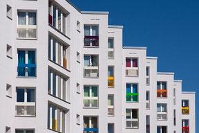 Immobilienfotografie einer Wohnanlage