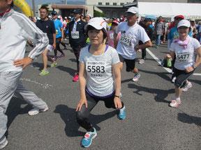 走る前の準備体操