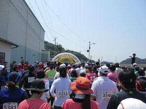 10kmには1514人が出場。10時14分スタート