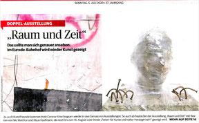Zeitung am Sonntag; 05.07.2020; Titelseite