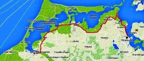 Radwanderweg von Ribnitz nach Stralsund
