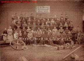 Belegschaftsfoto der Landmaschinenfabrik von 1915