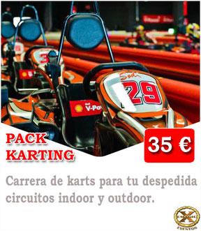 carrera de kart en Lanzarote