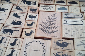 Stempel Cats on appletrees