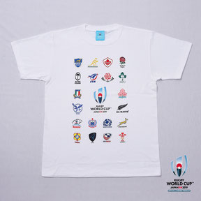 RWC2019™ 20 UNIONS COLLECTION Tシャツ 白,ラグビーワールドカップ2019™,公式ライセンス商品通販,No Whistle,ノーホイッスル