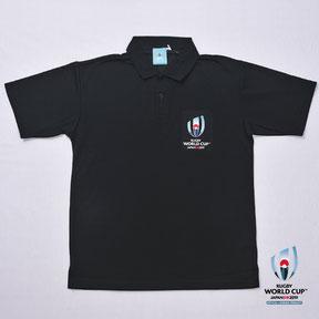 RWC2019™ロゴポロシャツ  黒,ラグビーワールドカップ2019™,公式ライセンス商品通販,No Whistle,ノーホイッスル