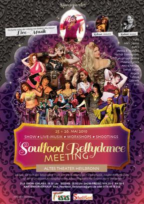 Poster Soulfood Bellydance Meeting in Heilbronn von Sina