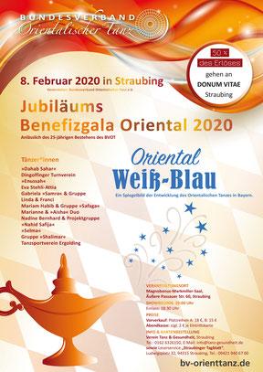 Oriental Weiß-Blau BENEFIZ Showplakat