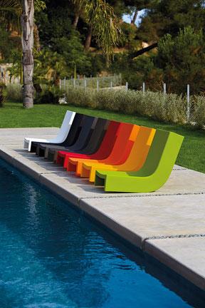 chaise longue colorée eclat reims