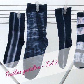 Shibori-Socken DIY-Tutorial