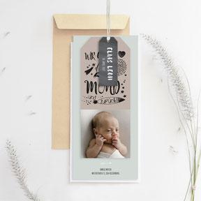 Geburtskarte Schweiz Babykarte mit Bild kreative Geburtskarte