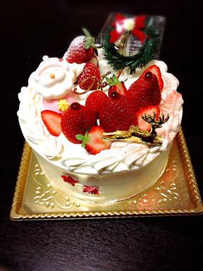 グルテンフリー米粉クリスマスケーキd