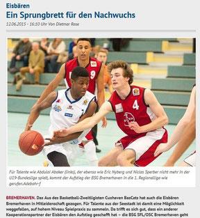 Nordsee-Zeitung vom Samstag, 13. Juni 2015