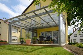 Terrassendach TErrassenüberdachung Garten Alu Aluminium Glas Markise schönster Platz
