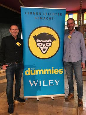 Michael Griga und Raymund Krauleidis auf der Frankfurter Buchmesse