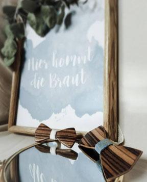 Hangefertigte Holzfliege für Groß und Klein in verschiedenen Holzmaßerungen