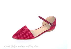 туфли балетки красные в горошек Candy Lady Киев Москва Сочи Питер