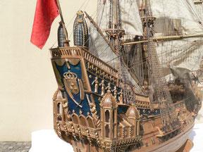 Schiffsmodell La Couronne
