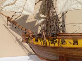 Schiffsmodell Brigg