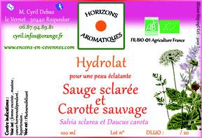 Hydrolat de Sauge sclarée et Carotte sauvage bio