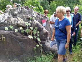 Am Einstieg zum geolog. Wanderpfad                                       (Foto S. Pinheiro)