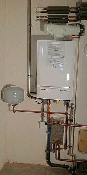 Brennwerttechnik Gasstandkessel  Systemtrennung Klein und Busch