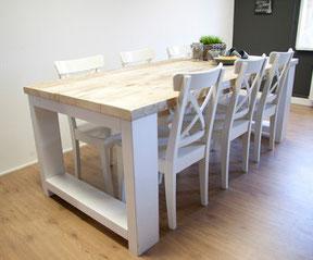 Steigerhouten tafel Friesland vanaf €329,-