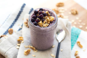 Blueberry-Walnut Overnight Oats #ad