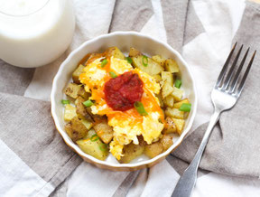 Freezer-Friendly Potato and Egg Breakfast Bowls Recipe